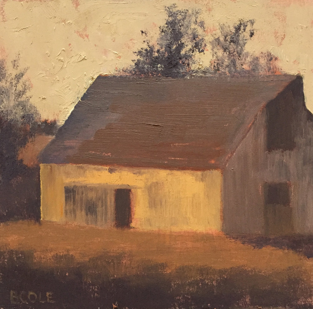 Barn No. 3 | © Beth Cole | 6 x 6 x 1.5 | Oil on Wood Panel