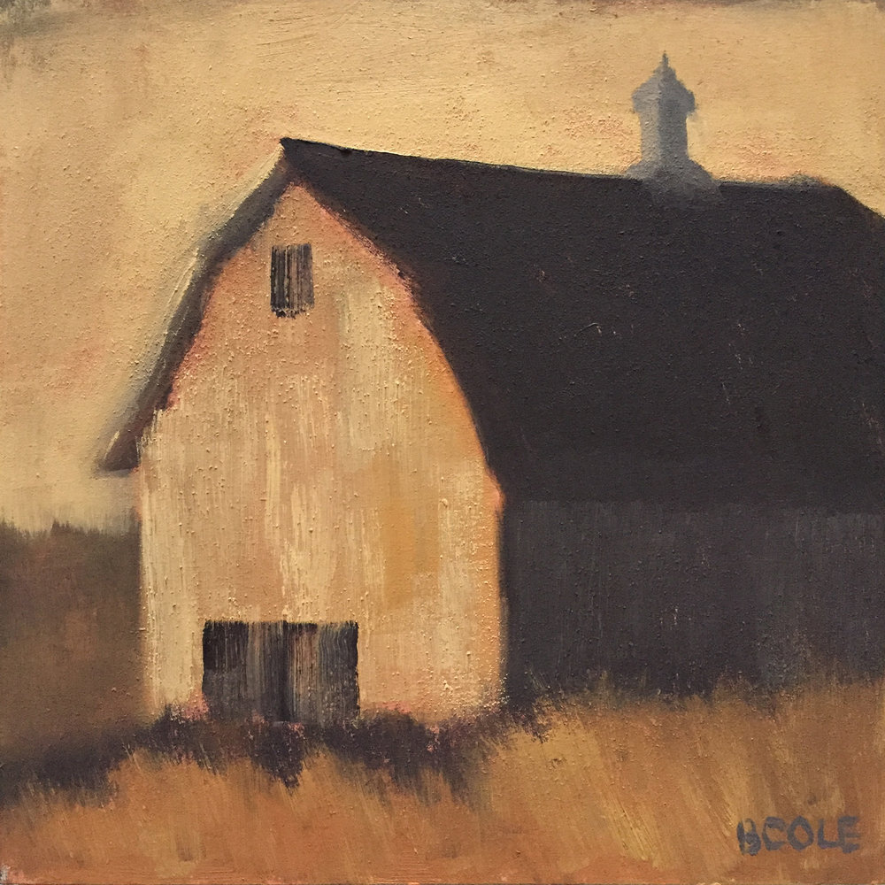 Barn No. 4 | © Beth Cole | 6 x 6 x 1.5 | Oil on Wood Panel