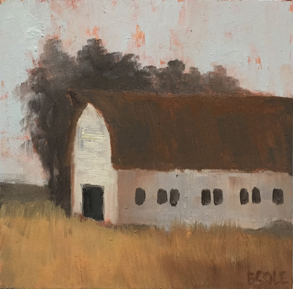 Barn No. 5 | © Beth Cole | 6 x 6 x 1.5 | Oil on Wood Panel