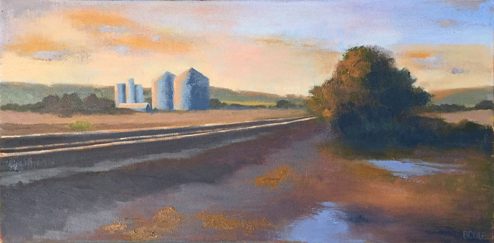 Aglow | © Beth Cole | Oil on Stretched Canvas | 12 x 24