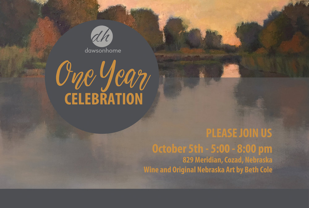 Dawson Home First Anniversary Celebration, October 5th, 5-8 pm, Cozad, Nebraska