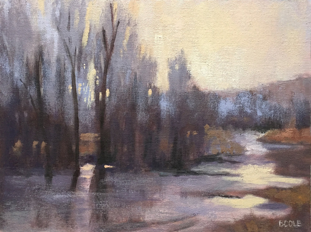 Winter Creek | Oil on Canvas | 12 x 16 | © Beth Cole