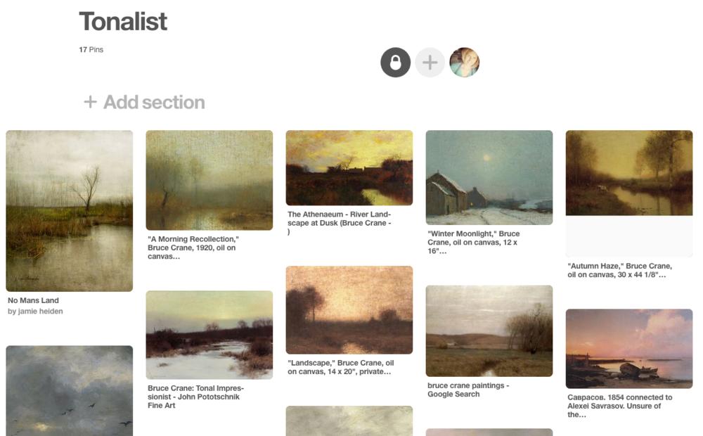 Tonalist Pinterest Board