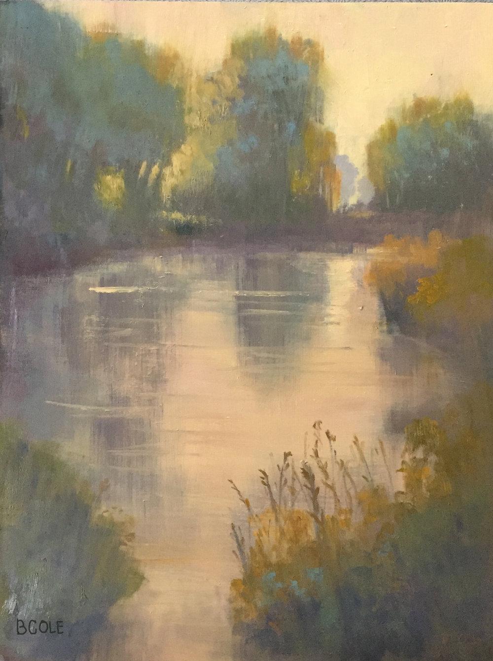 Stillness - 18 x 24 - Oil on Cradled Wood