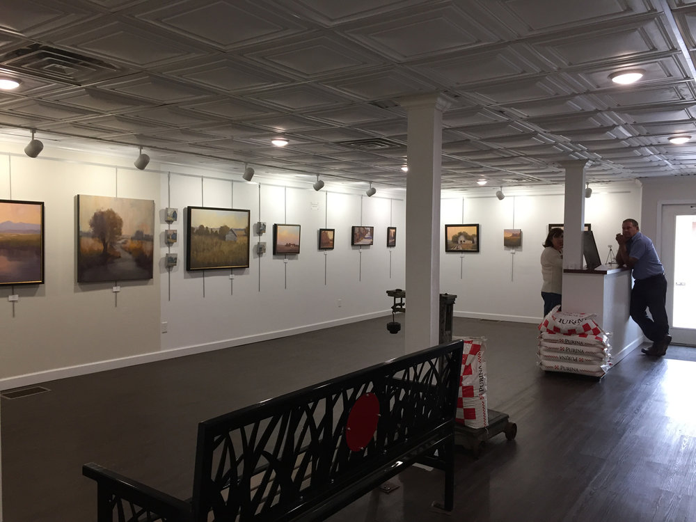 Old Feed Store Art Center, Bassett, Nebraska | Beth Cole Art Exhibition October 2018