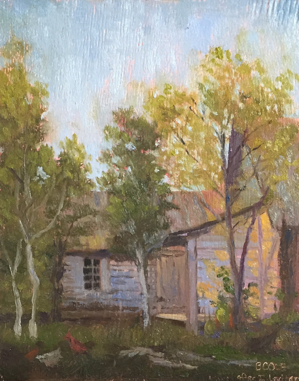 Master Study | Sunny Day | Beth Cole after Isaac Levitan | Oil on Wood Panel | 8 x 10