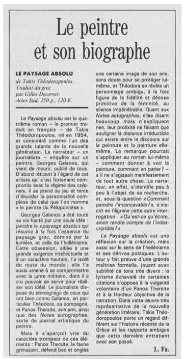 LE MONDE / VENDREDI 18 DÉCEMBRE 1992 - par Lucile Farnoux