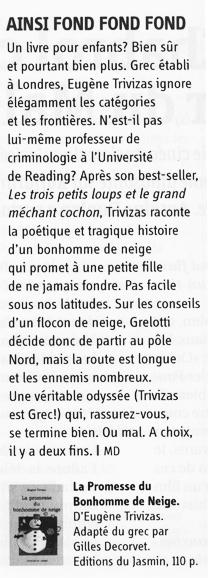 L'HEBDO / 11 DÉCEMBRE 2003 par MD