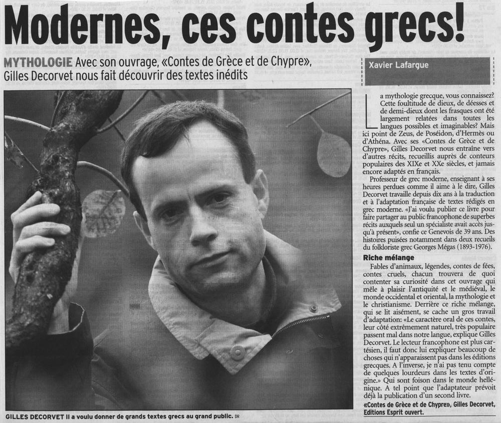 LE MATIN DIMANCHE / 27 JANVIER 2002 par Xavier Lafargue
