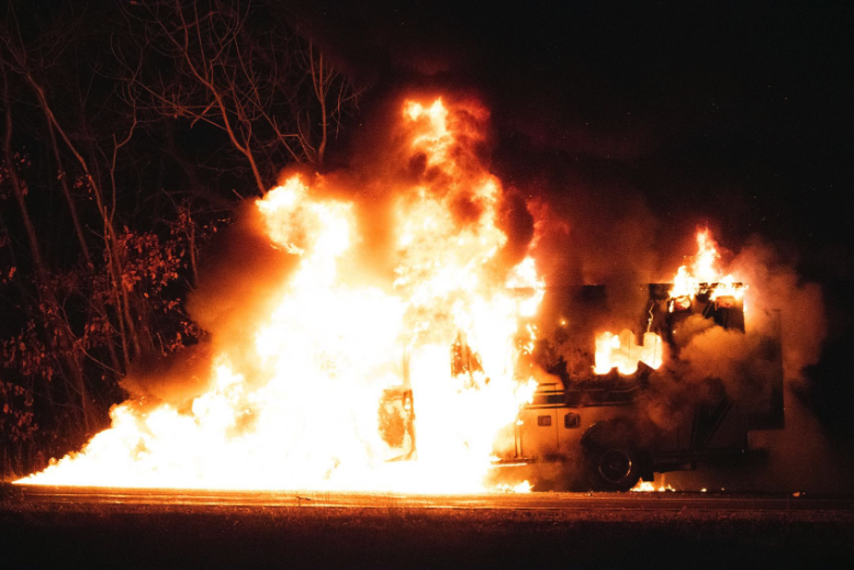 WI Ambulance bursts in to flames - Baraboo News Republic