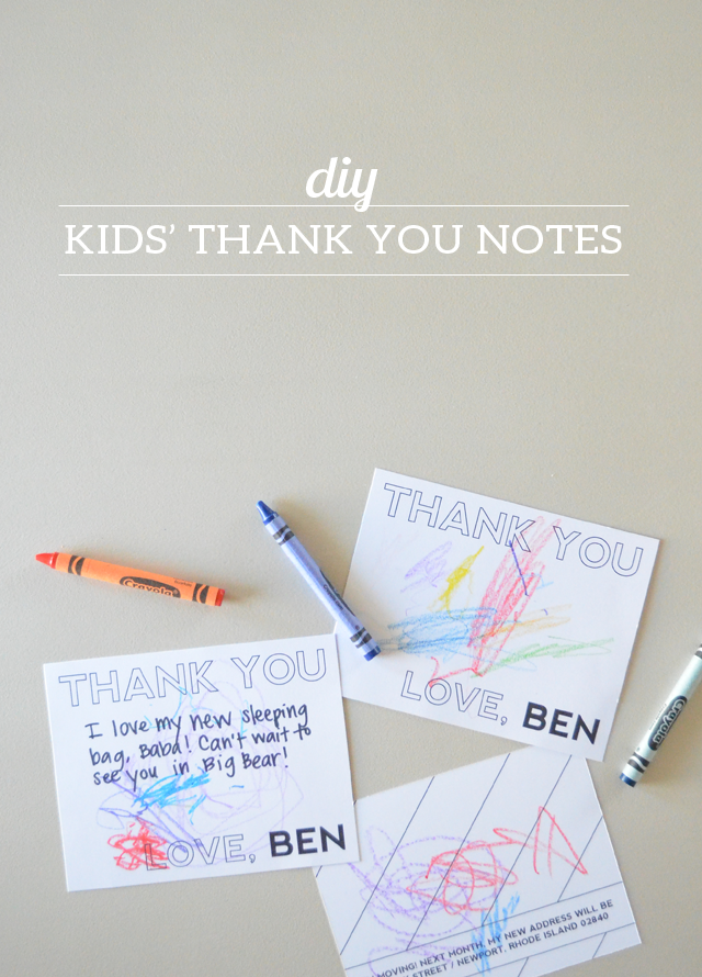 DIY Thank You Notes for Kids (and a printable!)
