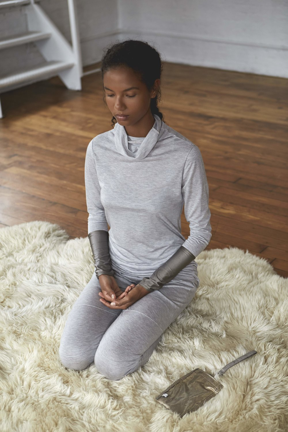 ARJUNA.AG Privacy Pouch, used for meditation, focused work or sleep.