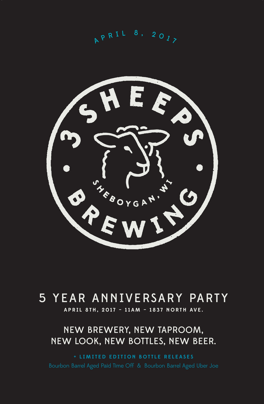 3 Sheeps Brewing Poster Design