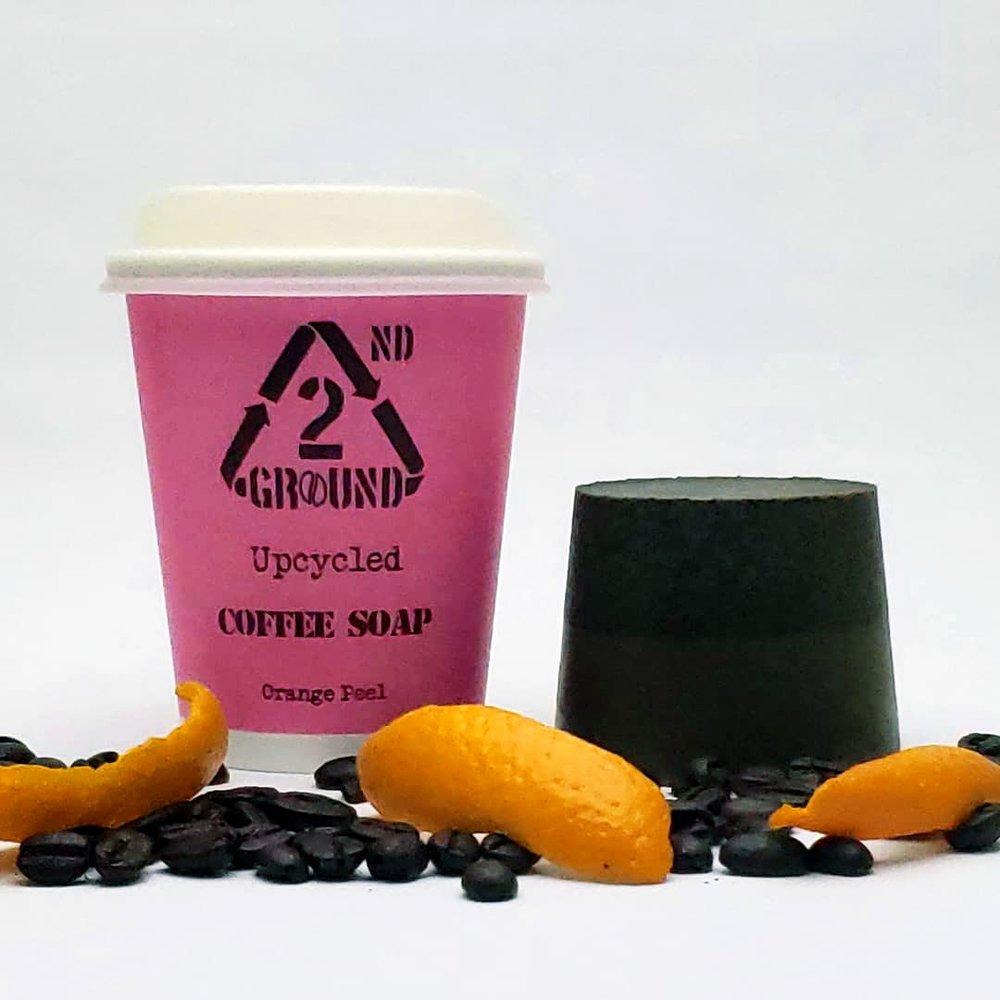 Upcycled Coffee Soap - Orange Peel Fragrance