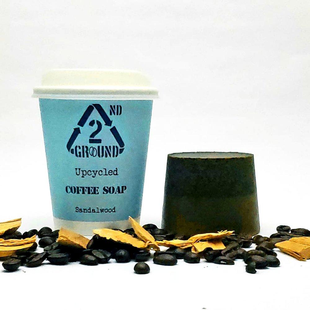 Upcycled Coffee Soap - Sandalwood Fragrance