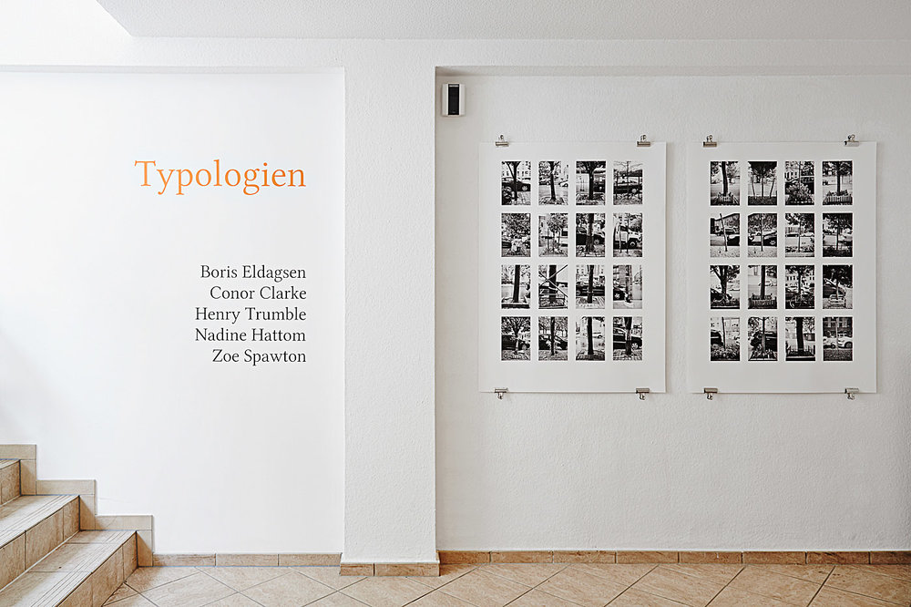 Typologien , 2014. Installation view, group exhibition, Jarvis Dooney Galerie, Berlin, Germany.
