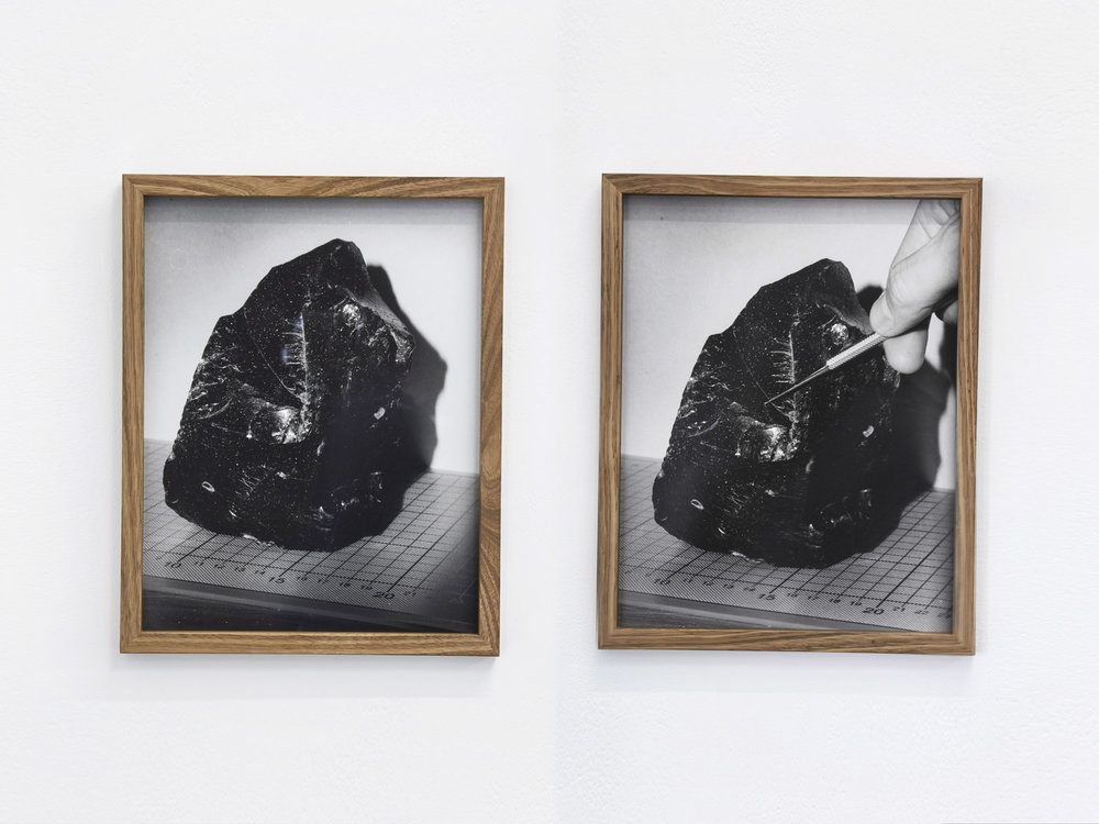The Object & The Object (Demonstrated)   Hand-printed black and white photographs  46 x 36 cm (paper)