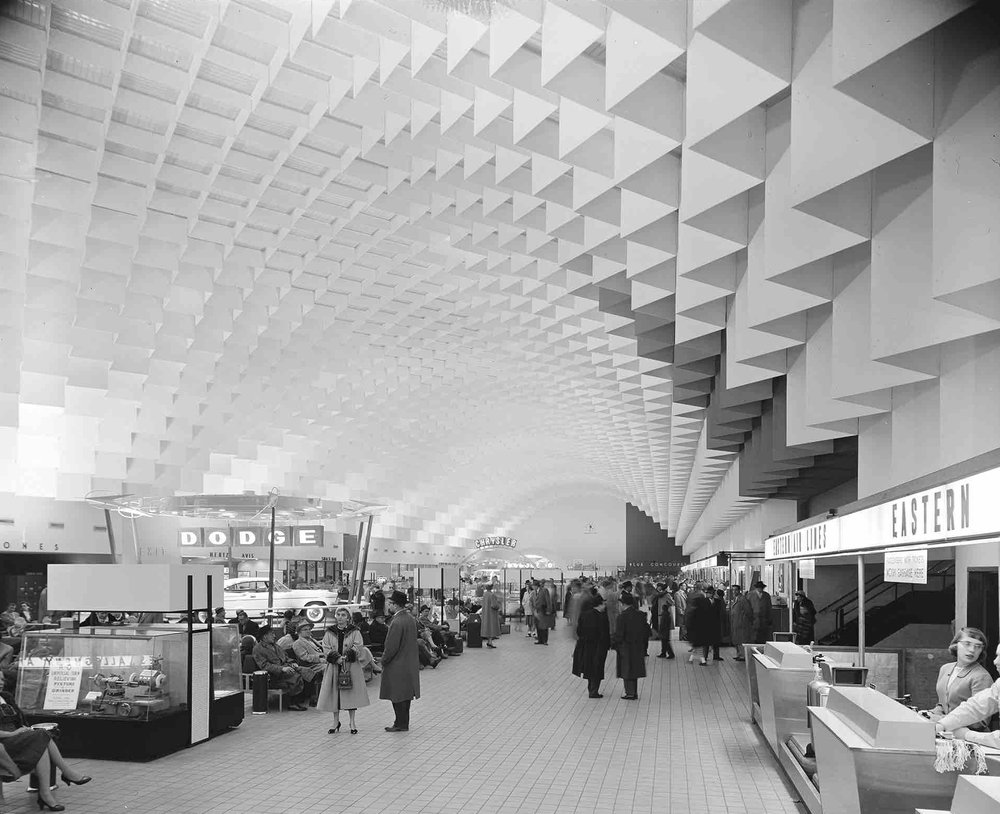 Minoru Yamasaki,  Willow Run Airport (Ypsilanti, MI) 1958