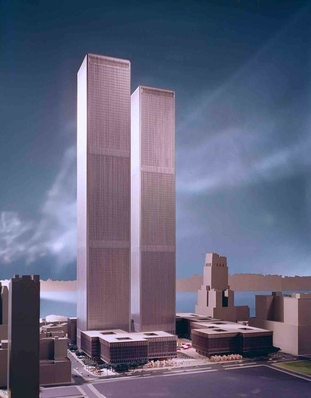 Minoru Yamasaki, World Trade Towers (New York, NY) 1973