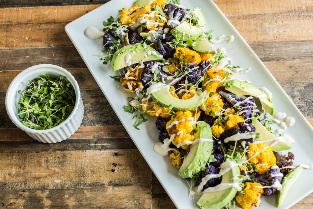 DARLING MAG :  Cauliflower Avocado Micro Green Salad