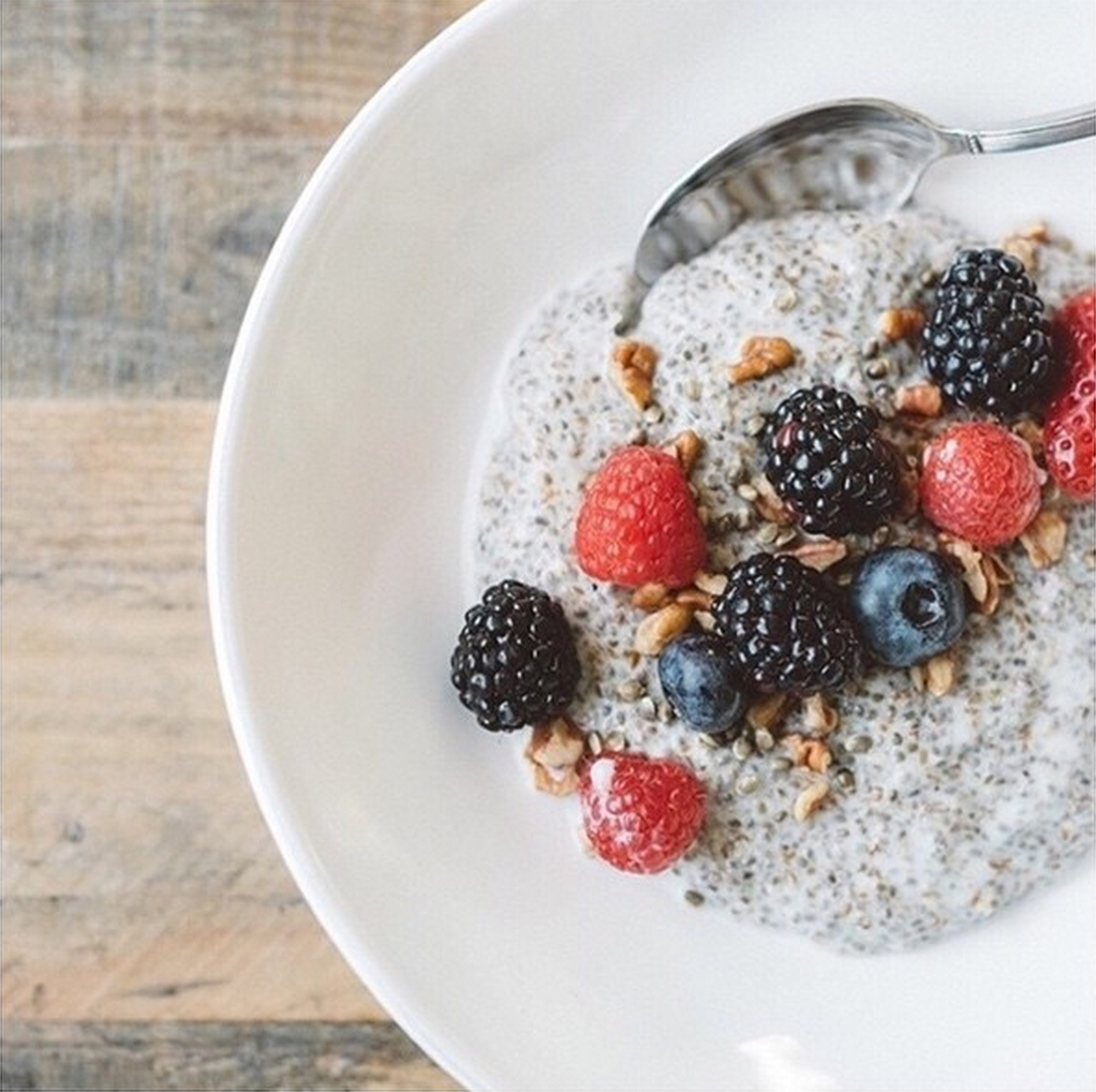 Warm Chia Flax Pudding Kelly Leveque