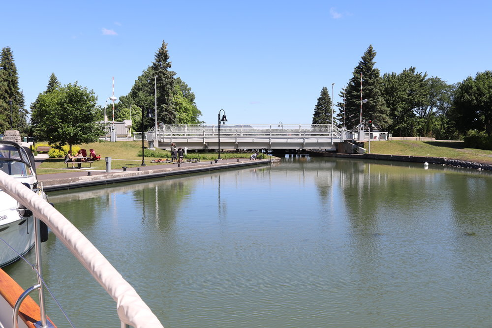 The top of Lock 3 this morning