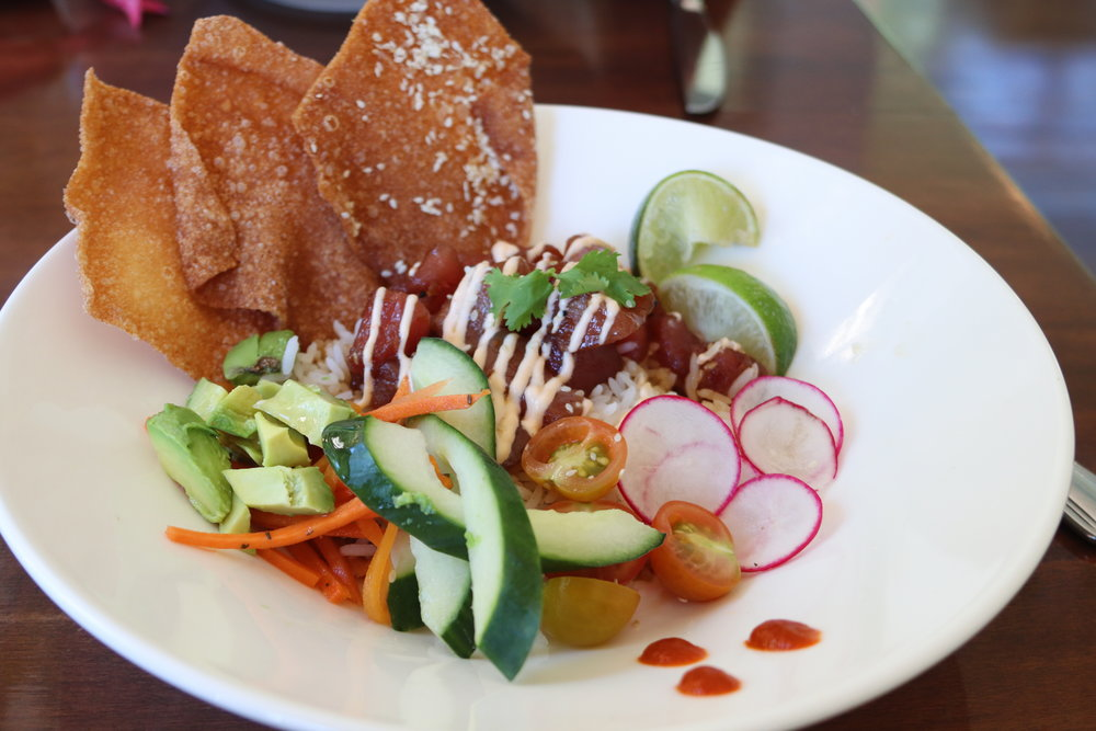 Emy and Lucas - this is for you.  Tuna poke!