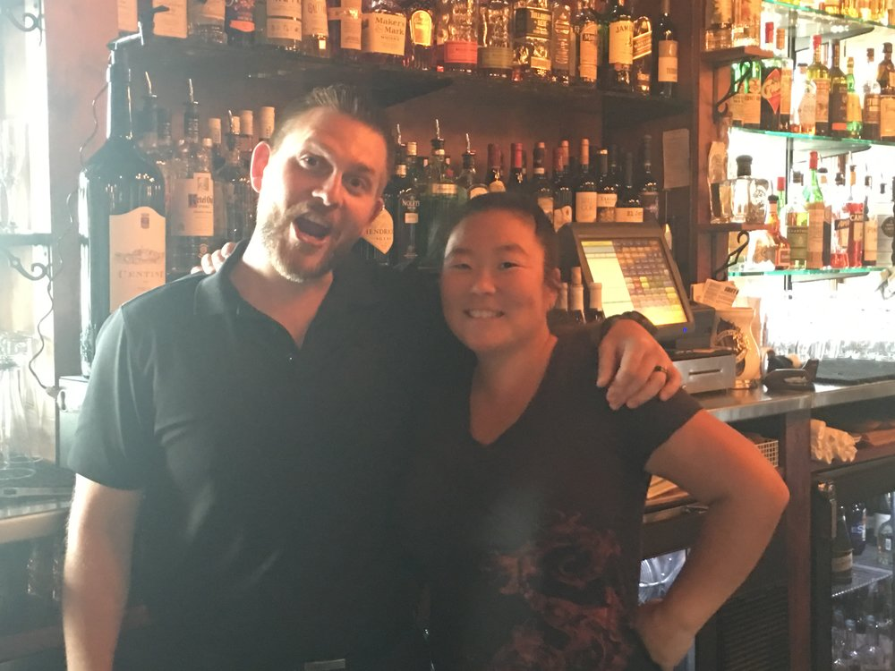 Zach and Rachel from Cafe Sante in Boyne City.  Their approach to bartending made us feel like we were back at the Guild Tavern.  Thanks guys for a great happy hour - we needed it!