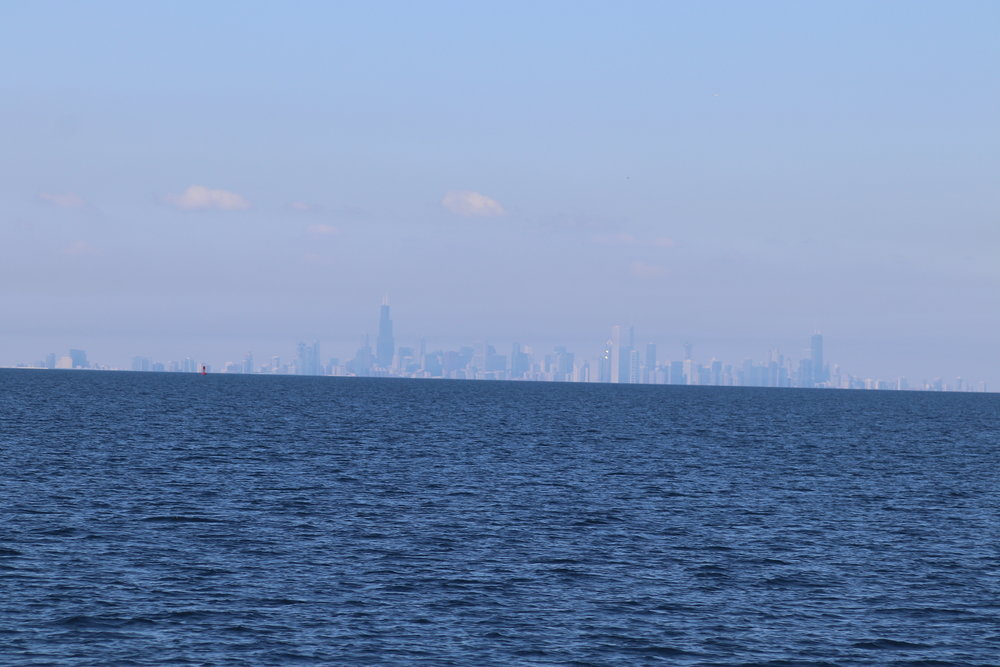 A hot and hazy day's view of Chicago