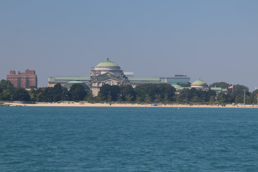 View of the Museum from Lake Michigan