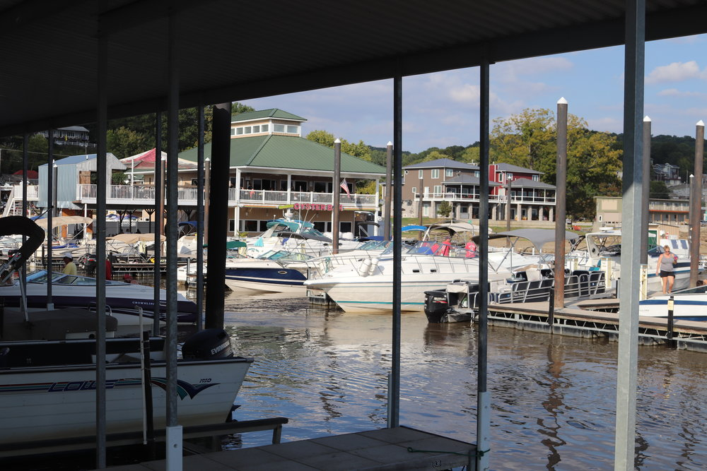 Our view of the Oyster Bar where we almost became regulars