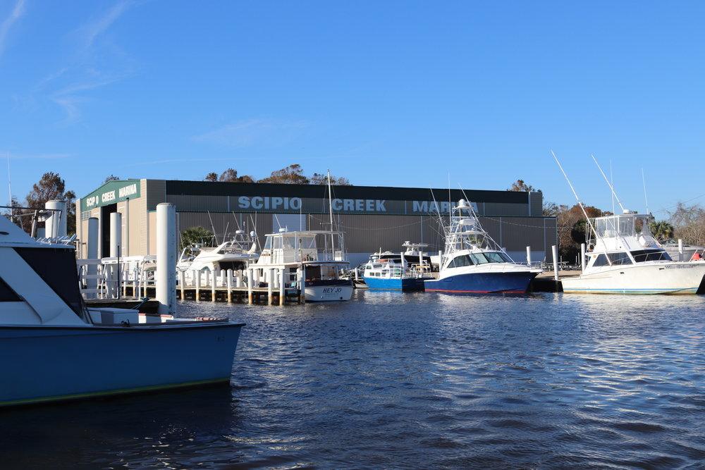 Scipio Creek Marina, Apalachicola … looks pretty good from this angle