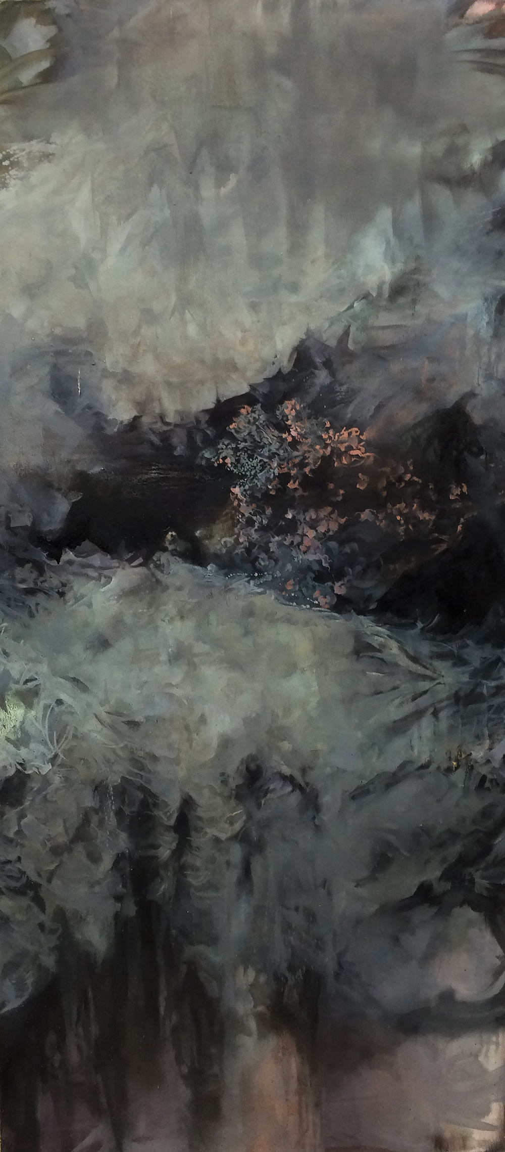 """Fracture/Permeate 2016 Oil on canvas 45"""" x 20"""""""
