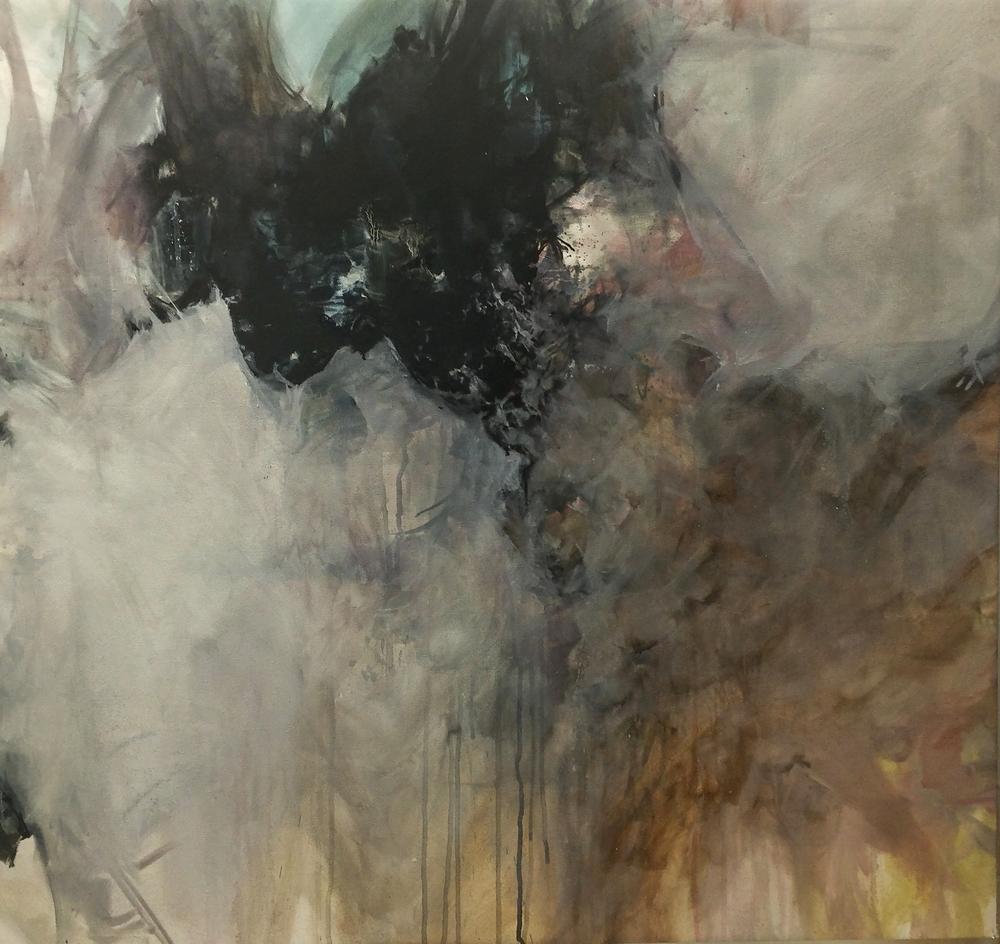 """The Imprinted Myth 2015 Oil on canvas 31"""" x 33"""""""