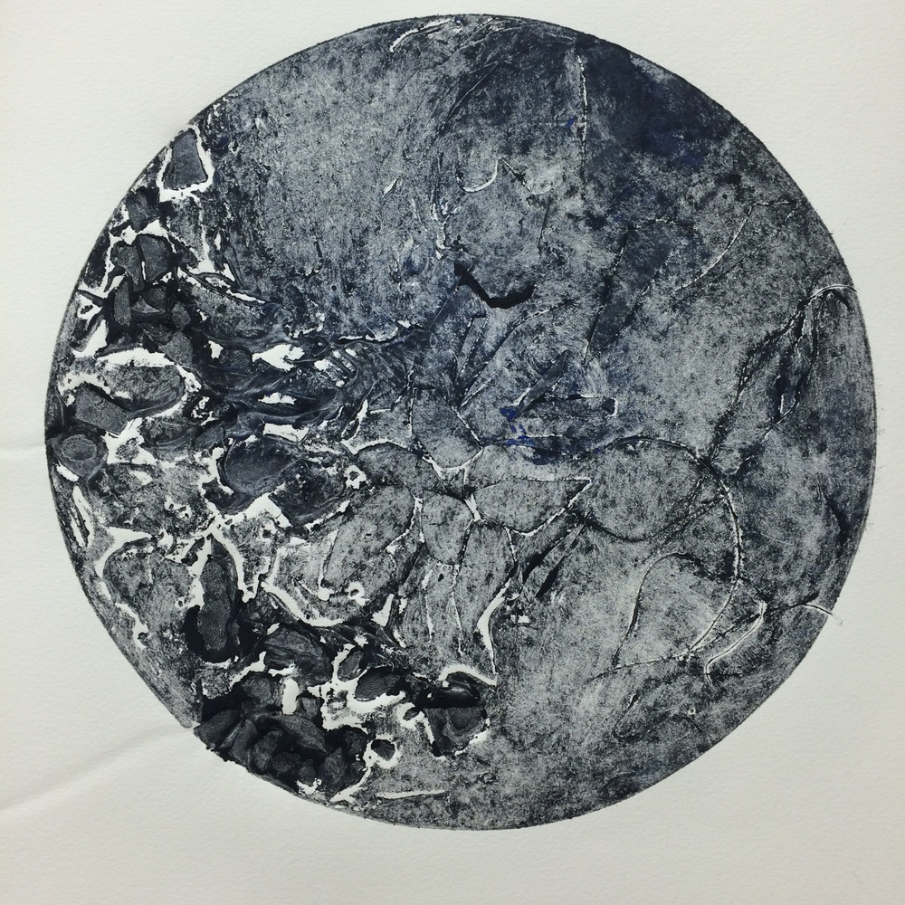Black Water IV 2016 Collograph on BFK Reeves