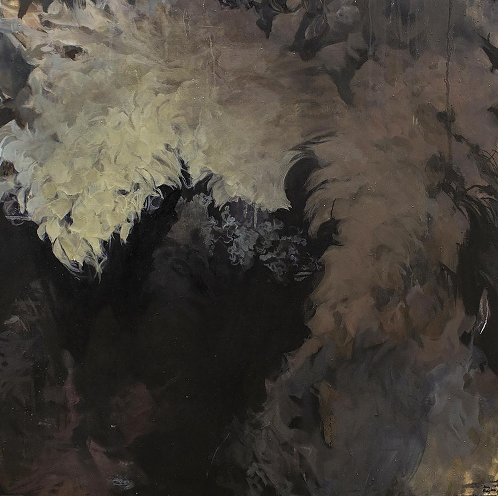 """Shadow Pulse 2016 Oil on canvas 36"""" x 36"""""""