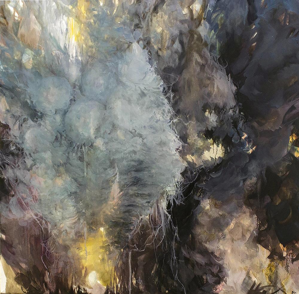 """Subterranean/Aerial 2016 Oil on Canvas 48"""" x 48"""""""