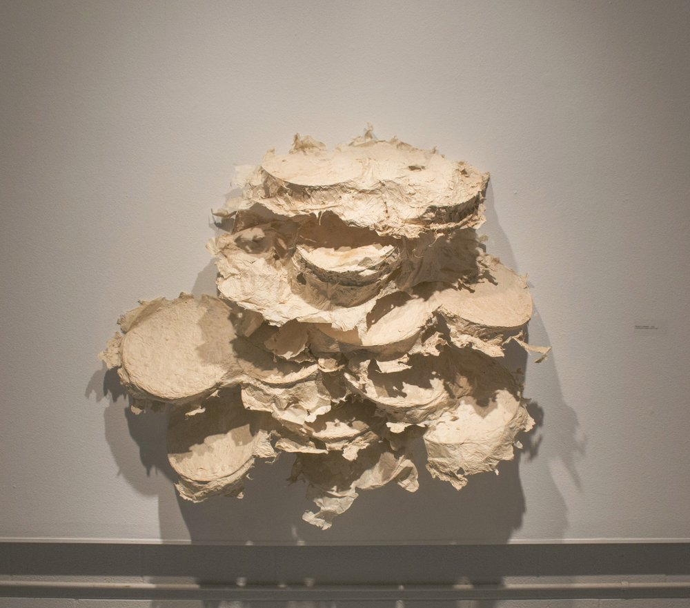 Terrain 2 - Unknown Paper sculpture made with print matrix Dimensions variable