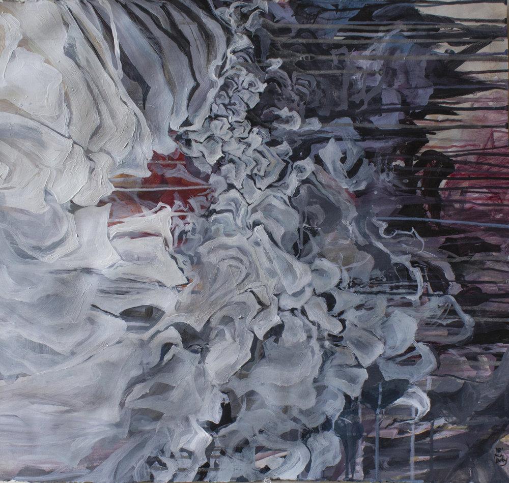 "Presence, unformed 2018 Acrylic on paper 22"" x 24"""