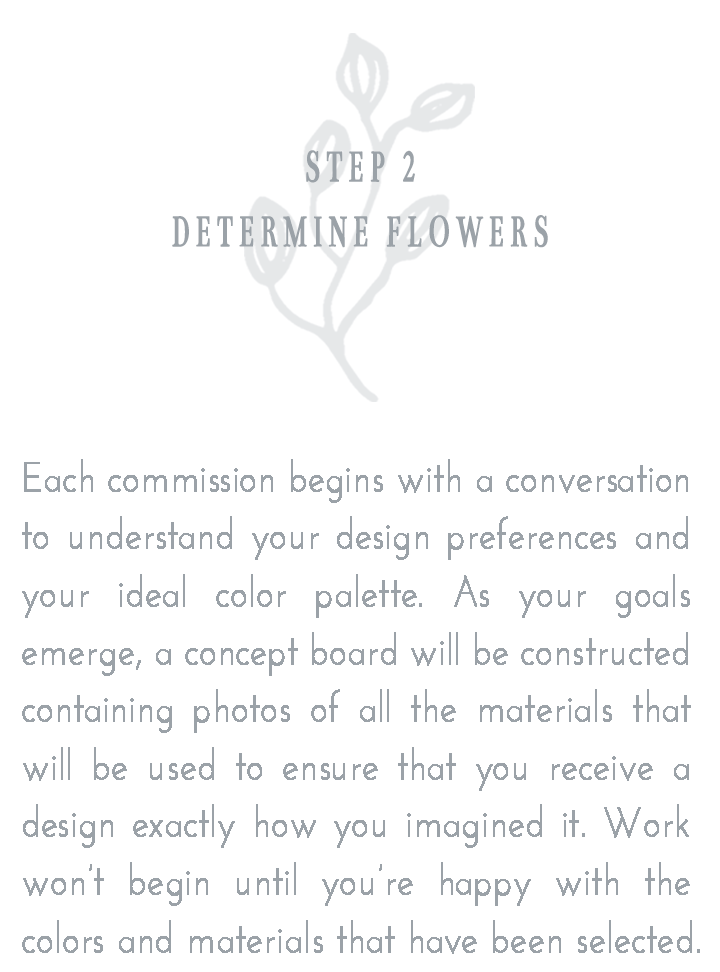Step 2: Determine Flowers