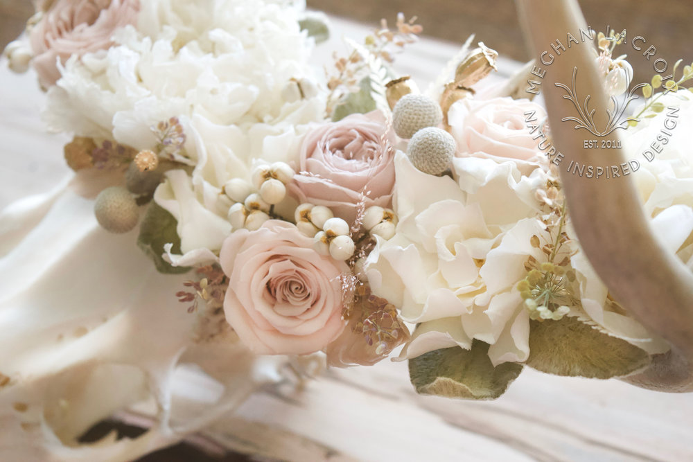 Pale Pink and Cream Flowers by MeghanLaCroix.com