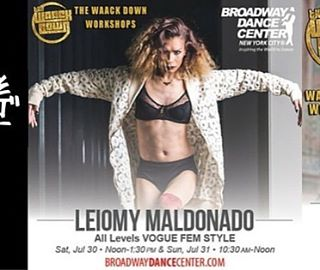 Teaching at @bdcnyc For THE WAACK DOWN WORKSHOPS! July 30th at 1:30pm and July 31st at 10:30am! Don't miss out !!! #Leiomy #amazonmotherleiomy #broadwaydancecenter #queenofvogue #waackdownworkshops #voguefem #elementsofvogue #vogueclass