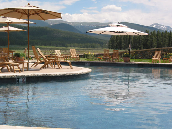Relax and unwind in a geo-thermically heated saltwater pool and hot tub.