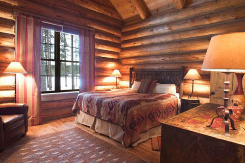 Elegantly rustic guest room