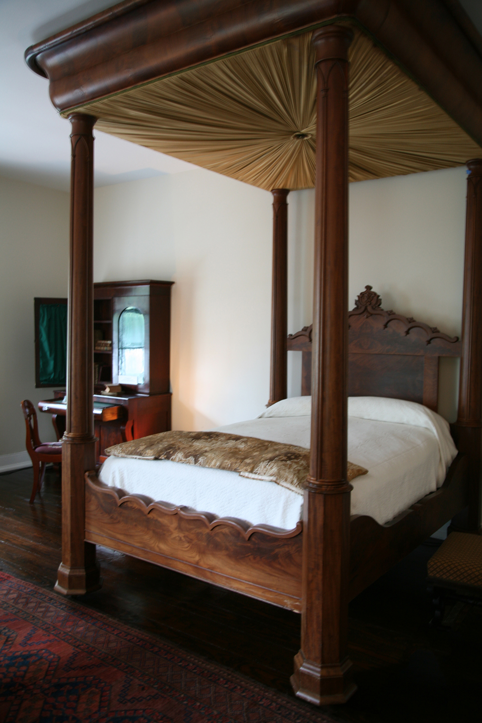 Mahogany and pine tester bed, c. 1845