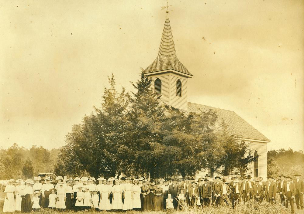 Image:Congregation of St. John Evangelical Lutheran Church ca. 1910