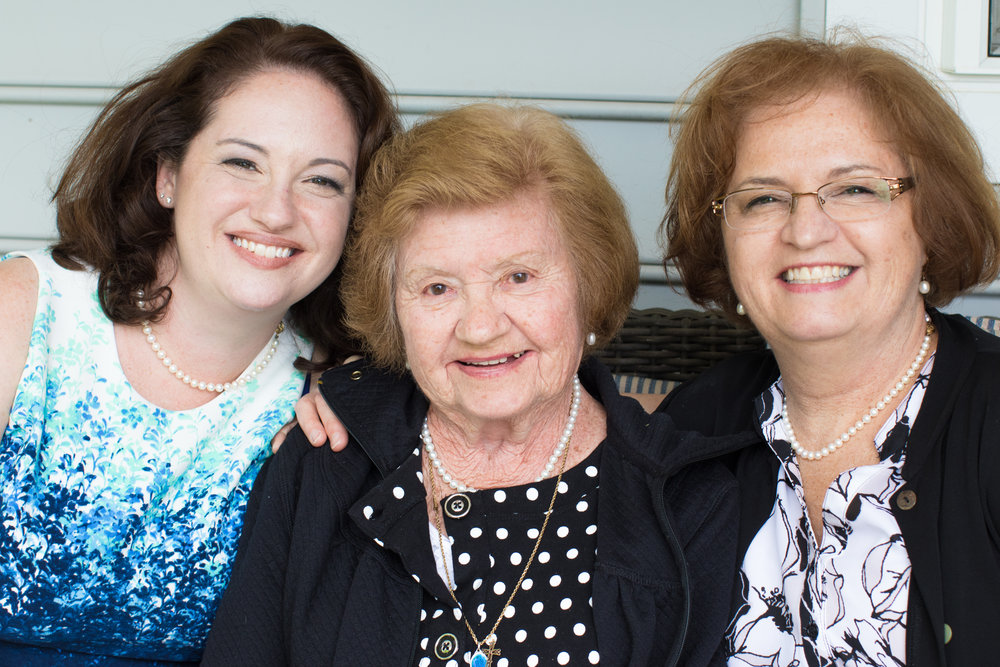 A few of my favorite moms, Jenn-my beloved sister, Nan- the eldest mom, Mama- the one who raised me right