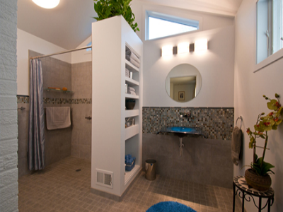 age-in-place bathroom addition: ivywood
