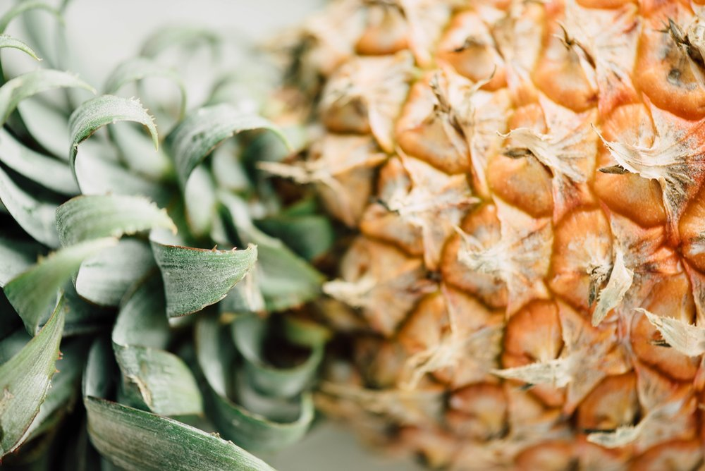 Did you know that pineapples are a symbol of warmth and welcome?  They're also great for digestion, reducing inflammation, and clear skin!
