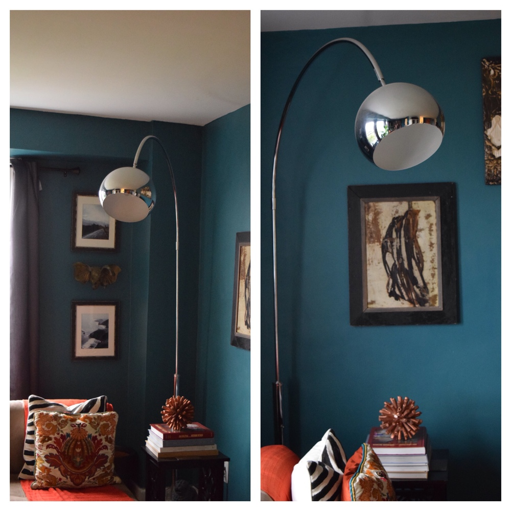 The new corner vignette. I actually ended up lovingthe way the lamp looks here.